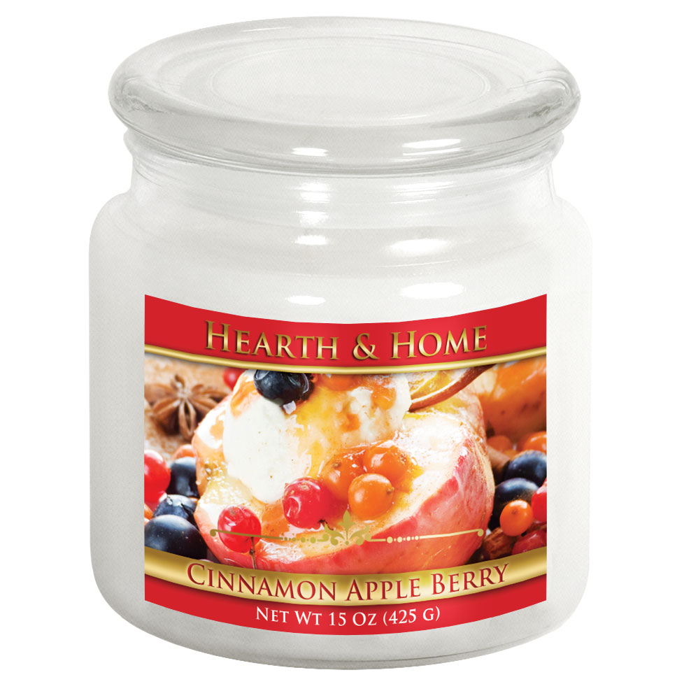 Cinnamon Apple Berry - Medium Jar Candle