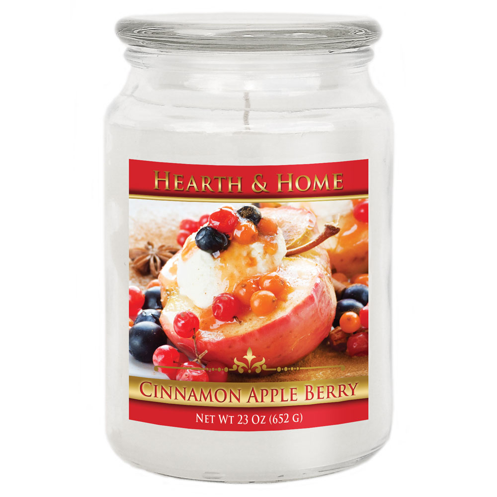 Cinnamon Apple Berry - Large Jar Candle