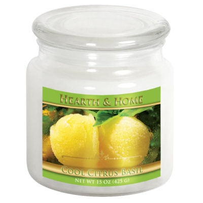 Cool Citrus Basil - Medium Jar Candle
