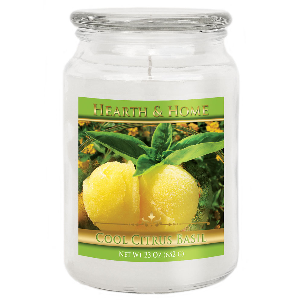 Cool Citrus Basil - Large Jar Candle