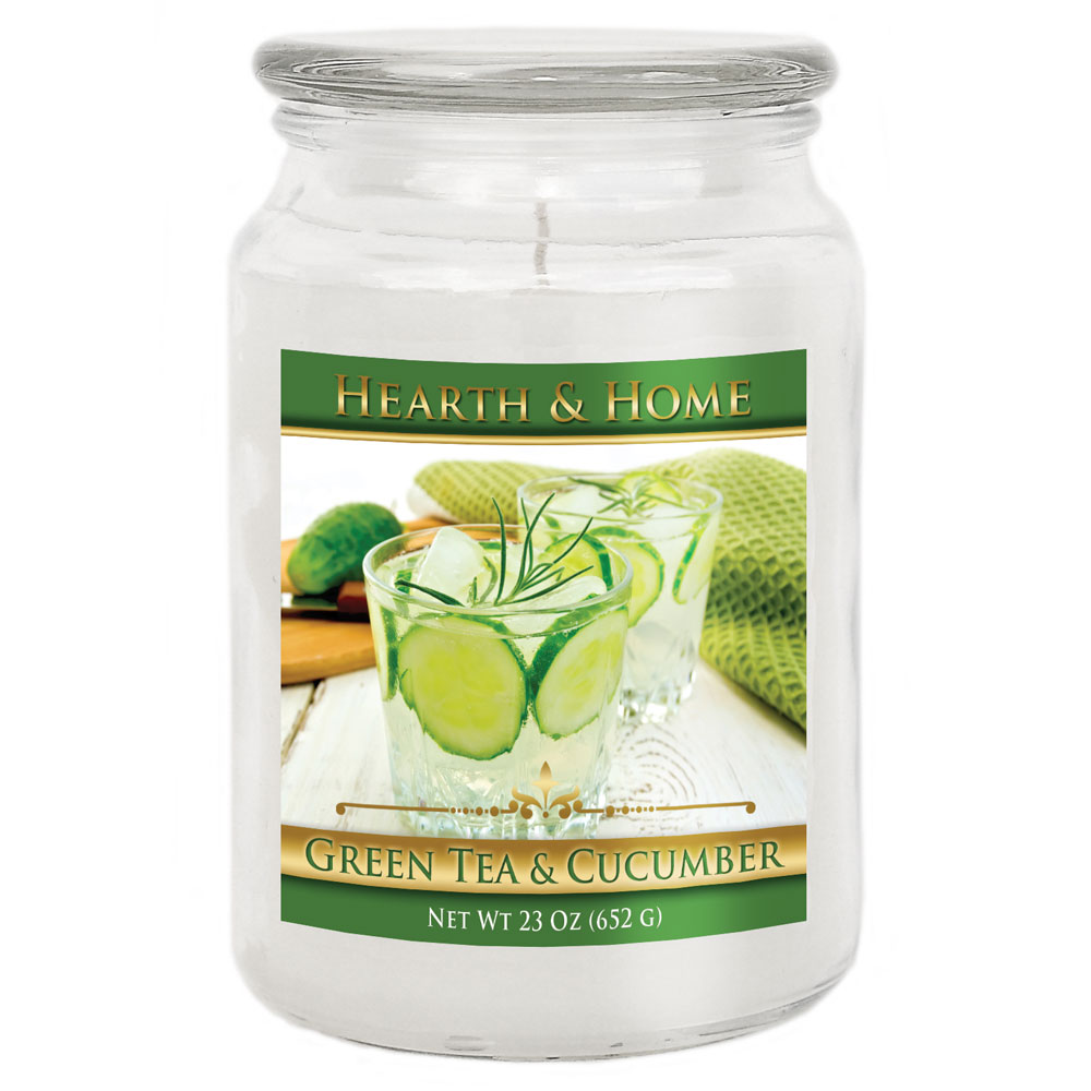 Green Tea & Cucumber - Large Jar Candle
