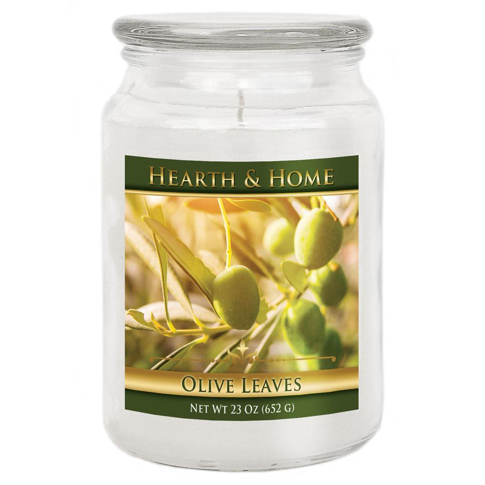 Olive Leaves - Large Jar Candle