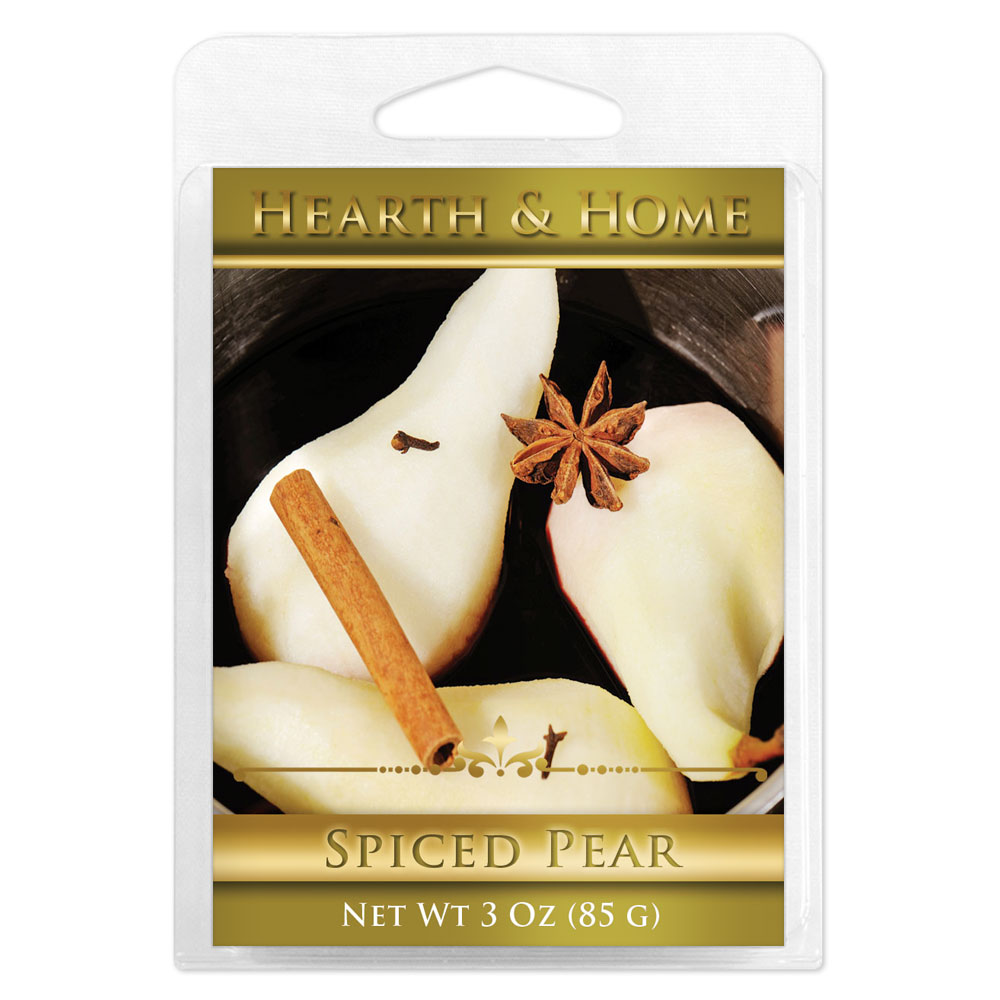 Spiced Pear Scented Wax Melt Cubes - 6 Pack