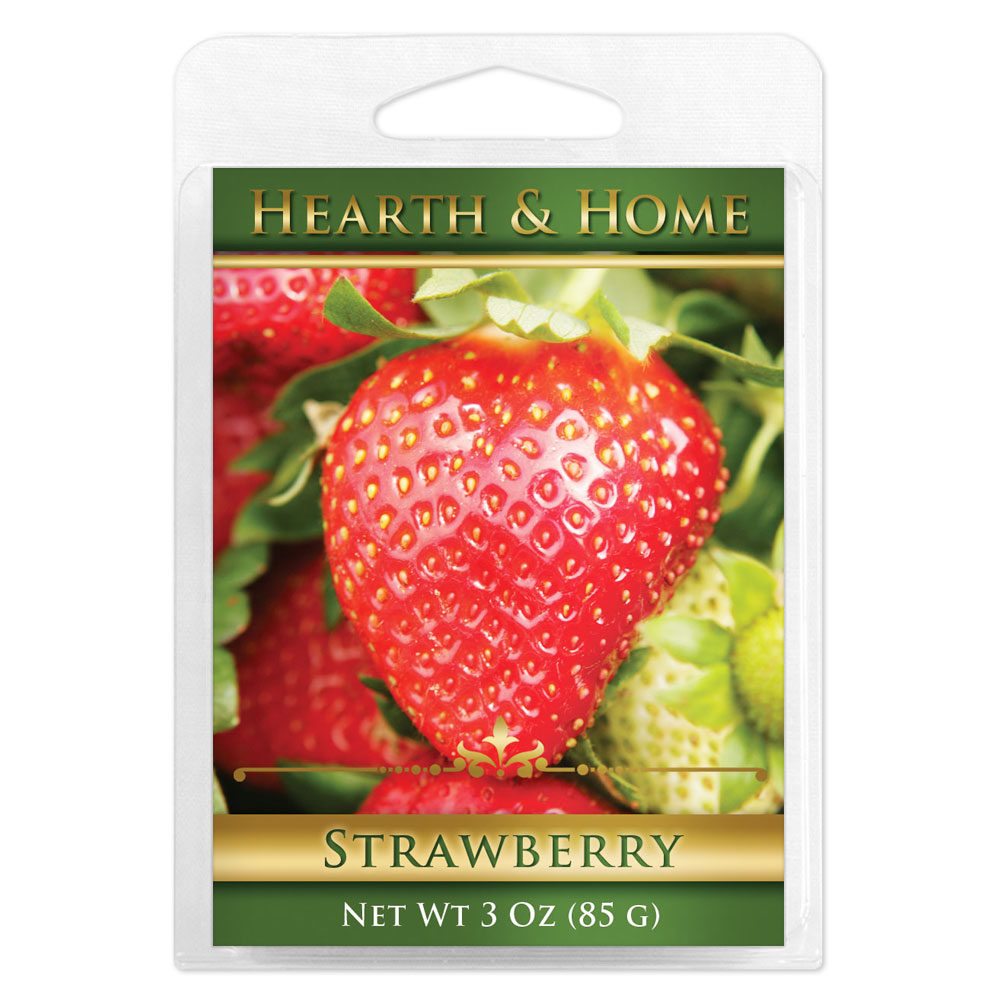 Strawberry Scented Wax Melt Cubes - 6 Pack