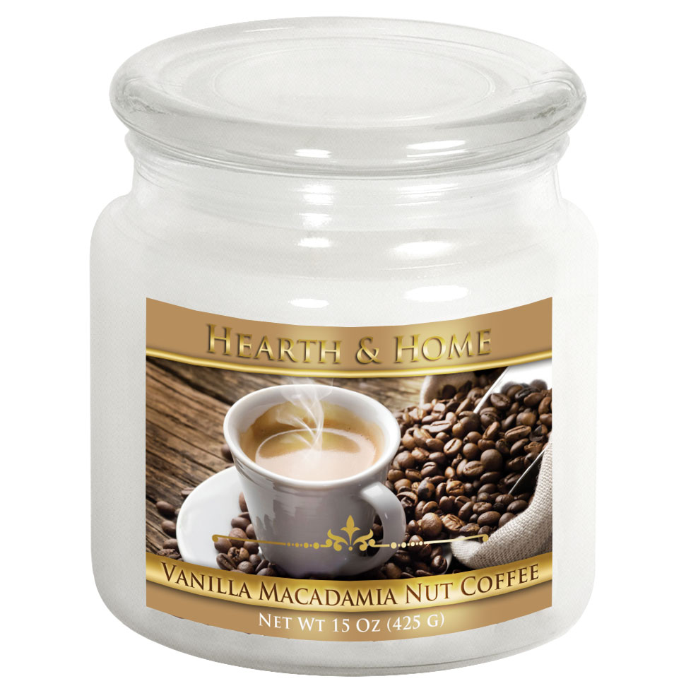 Vanilla Macadamia Nut Coffee - Medium Jar Candle