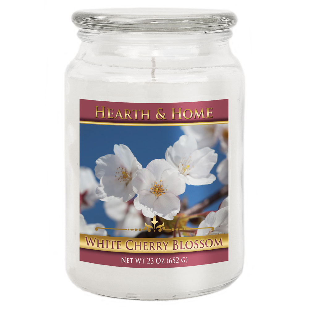 White Cherry Blossom - Large Jar Candle