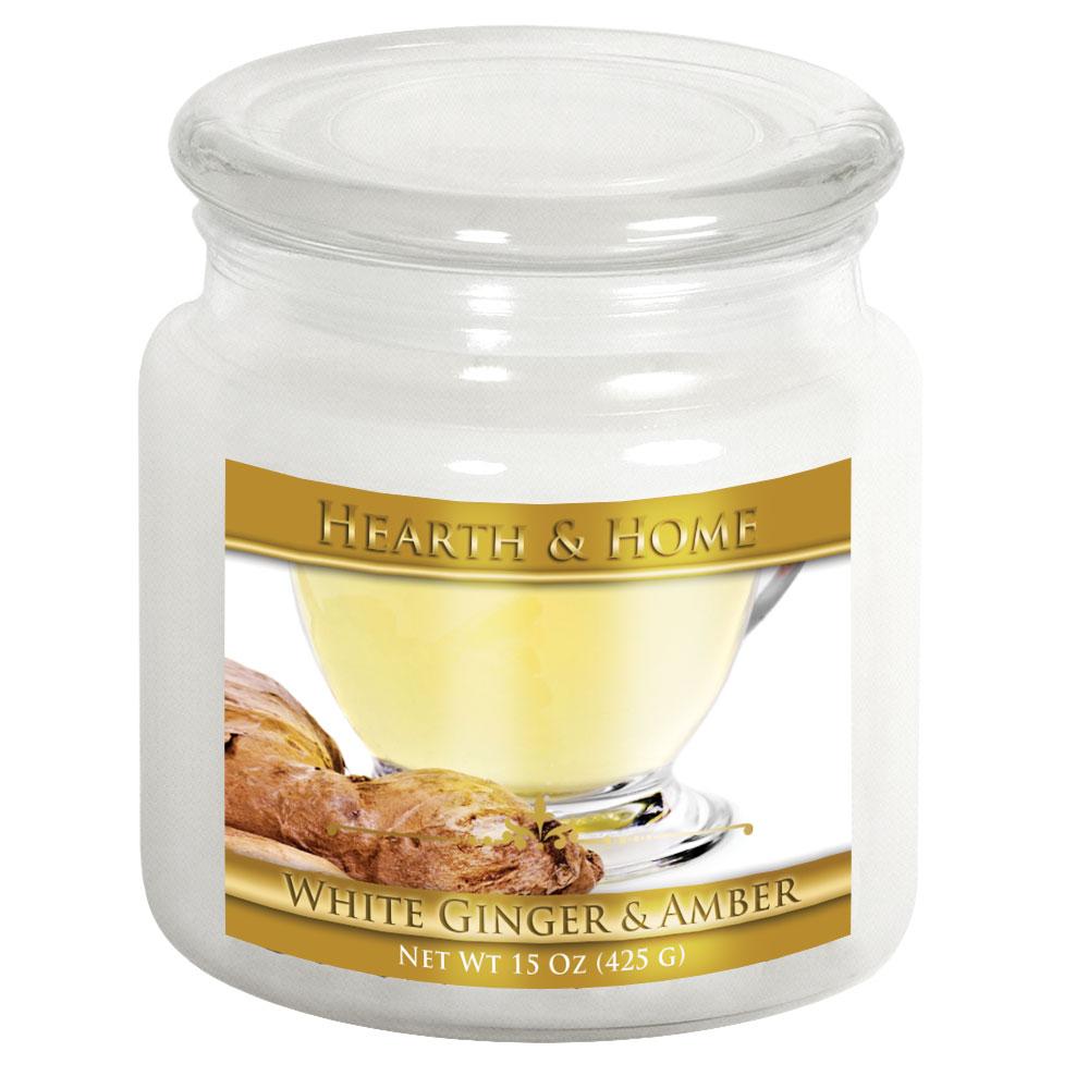 White Ginger & Amber - Medium Jar Candle